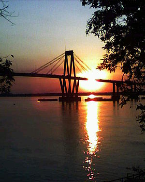 Corrientes - Image: Puente General Belgrano al atardecer