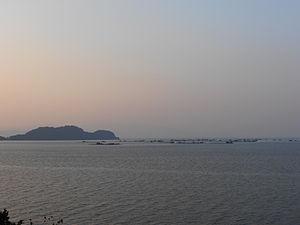 Batu Kawan - Gedung Island viewed from Batu Musang Jetty, Batu Kawan.