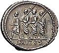 Q. Servilius Caepio (M. Junius) Brutus, denarius, 54 BC, RRC 433-1 reverse.jpg