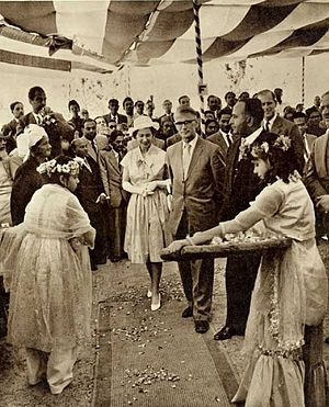 East Pakistan - Elizabeth II, seen here visiting Chittagong in 1961, was East Pakistan's queen until 1956.