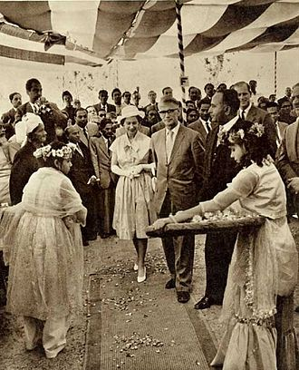 East Pakistan - Elizabeth II, seen here visiting Chittagong in 1961, was Pakistan's queen until 1956.