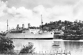 Queensland State Archives 196 SS Strathnaver in the Brisbane River at Hamilton c 1934.png