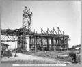 Queensland State Archives 3901 Erection of south anchor arm tower traveller completing stage 2 Brisbane 13 December 1938.png