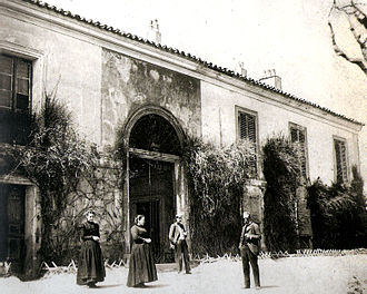 Black Paintings - Mansion of the heirs of Goya, in the Quinta del Sordo, Madrid, c. 1900. It was demolished in 1909.