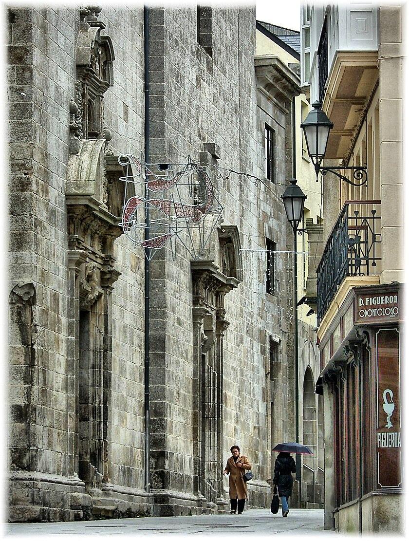 Rúa en Lugo