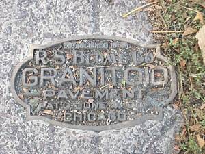 National Register of Historic Places listings in Grand Forks County, North Dakota - Image: R.S. Blome Granitoid Plaque, Franklin Ave, Grand Forks ND