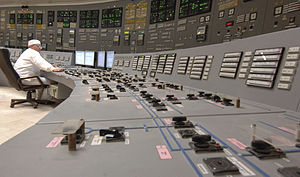 Kursk Nuclear Power Plant - Control room at the Kursk Nuclear Power Plant