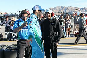 Trent Owens - Owens and Aric Almirola discuss strategy at Las Vegas in 2014