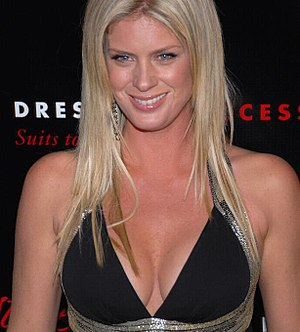 Model Rachel Hunter at the Slim-Fast Fashion Show