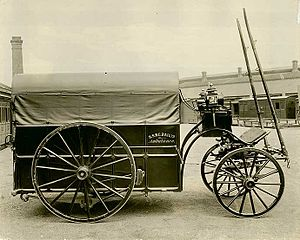 New South Wales Ambulance - NSW Government Railway Ambulance Corps wagon in 1890.