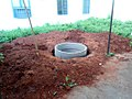 Rain water harvesting pit being constructed at Andhra University Engineering College.jpg