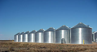 Silo structure for storing bulk materials