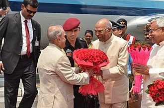 Ram Nath Kovind - Image: Ram Nath Kovind welcoming Pranab Mukherjee at Patna