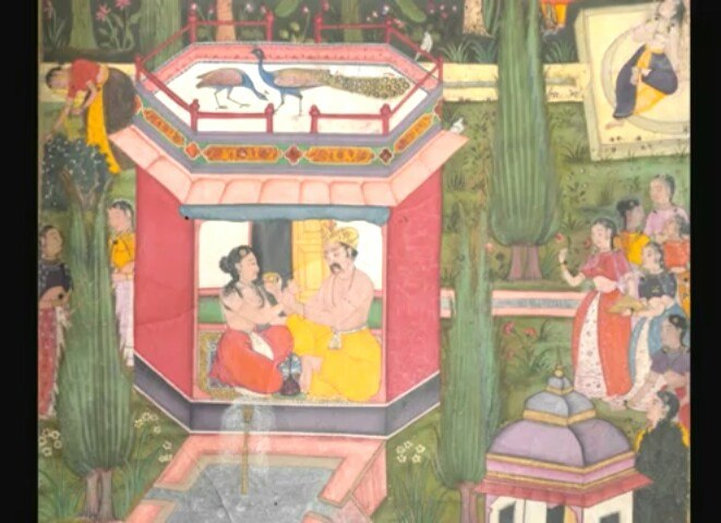 Rama and sita in pavilion