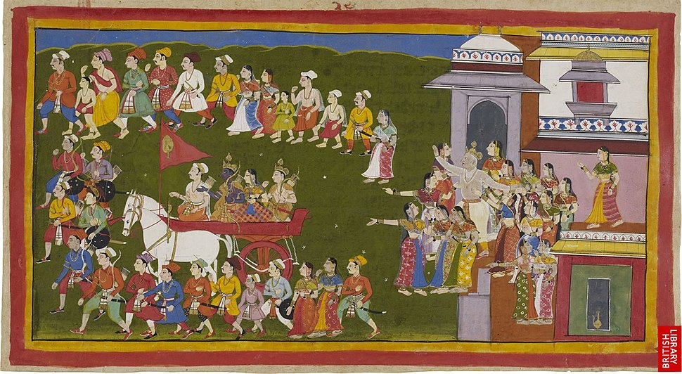 Rama leaving for fourteen years of exile from Ayodhya
