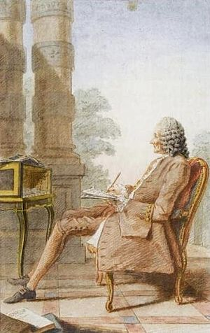 Louis Carrogis Carmontelle - Carmontelle's watercolour (1760) of Jean-Philippe Rameau.