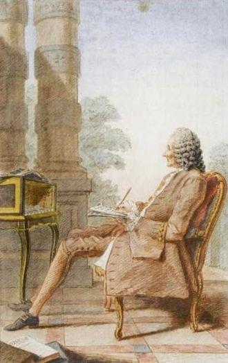Louis Carrogis Carmontelle - Carmontelle's watercolour (1760) of Jean-Philippe Rameau.