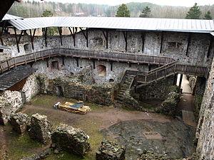 Raseborg Castle - Inside view