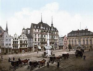 19. yüzyılda Bonn eski belediye binası
