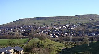 Rawtenstall town at the centre of the Rossendale Valley, in Lancashire, England