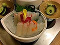 Red sea bream sashimi (27992669723).jpg