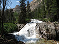 Redfish Lake Creek Waterfall (15059024742).jpg