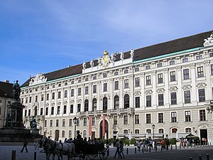 Aulic Council - Reichskanzlei wing of the Hofburg, Vienna