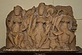 Relief Showing Three Mother Goddess - Circa 9th Century CE - Kagaroll - ACCN 40-2874-1 - Government Museum - Mathura 2013-02-23 5208.JPG