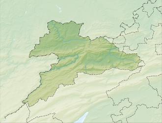 Reliefkarte Jura blank