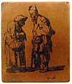 Rembrandt - Beggar and Beggar woman conversing, 1630 - copperplate (B164).JPG