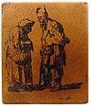 Rembrandt - Beggar and Beggar woman conversing, 1630 - copperplate (B164).JPG