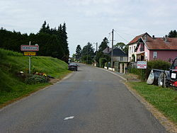 Renneville (Ardennes) city limit sign.JPG