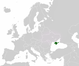 Location of Crimea in Europe.