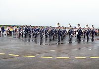 Republic of China Air Force Band Marching in Chaiyi AFB Apron 20120811d.jpg