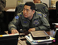 Republic of Korea Air Force Lt. Col. Lee Jeongjae, A5 plans chief, speaks at the command staff brief during Exercise Key Resolve on Osan Air Base, Republic of Korea, March 14, 2013.jpg
