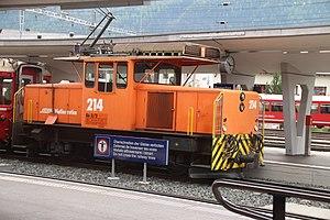 Rhaetian Railway Ge 3/3 - Image: Rh B, Sankt Moritz