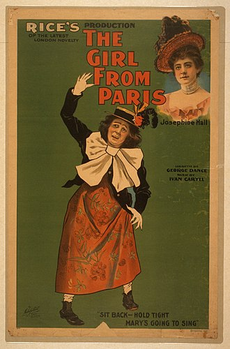 George Dance (dramatist) - Poster from The Girl from Paris, 1897