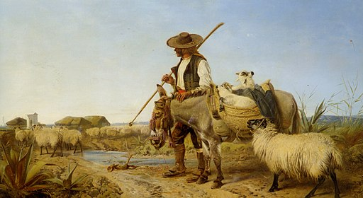 Richard Ansdell - A Spanish Shepherd (1863)