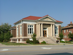 The Carnegie library in Ridge Farm