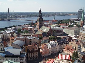 A view from St. Peter's Church in Riga Old Town.