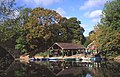 River Avon boathouse to the side of road bridge Warwick.jpg
