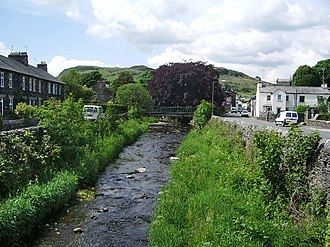Staveley, Cumbria - River Gowan near its confluence with the Kent