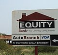 Road sign Equity Bank in Juba in 2011 177 635 kb.jpg