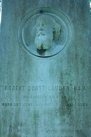 Robert Scott Lauder - Robert Scott Lauder's grave, Warriston Cemetery