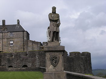 Statue von Robert the Bruce vor Stirling Castle