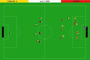 RoboCup Simulation League - Image: Robo Cup 2D Soccer Simulation Field