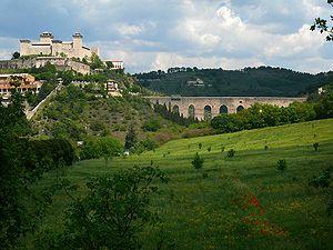 Province of Perugia - Image: Rocca Albornoz and Ponte delle Torri, Spoleto
