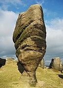 Rock feature on Bride Stones Moor (geograph 2259245).jpg