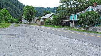 Roderfield, West Virginia - Davy Roderfield Road in Roderfield