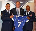 Roger Goodell at NFL Draft with USAF jersey 2010-04-22.jpg